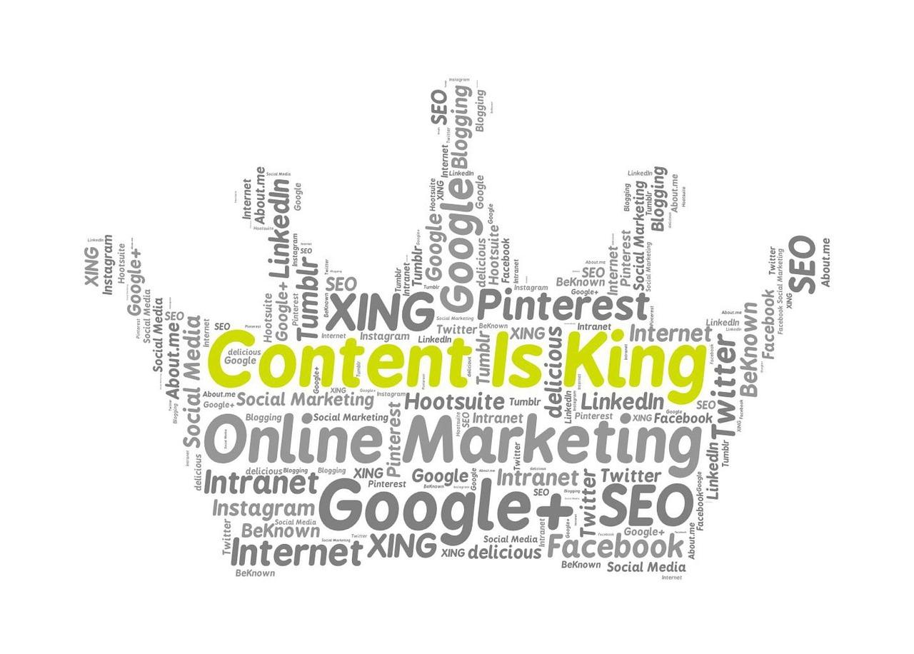 コンテンツマーケティング content is king