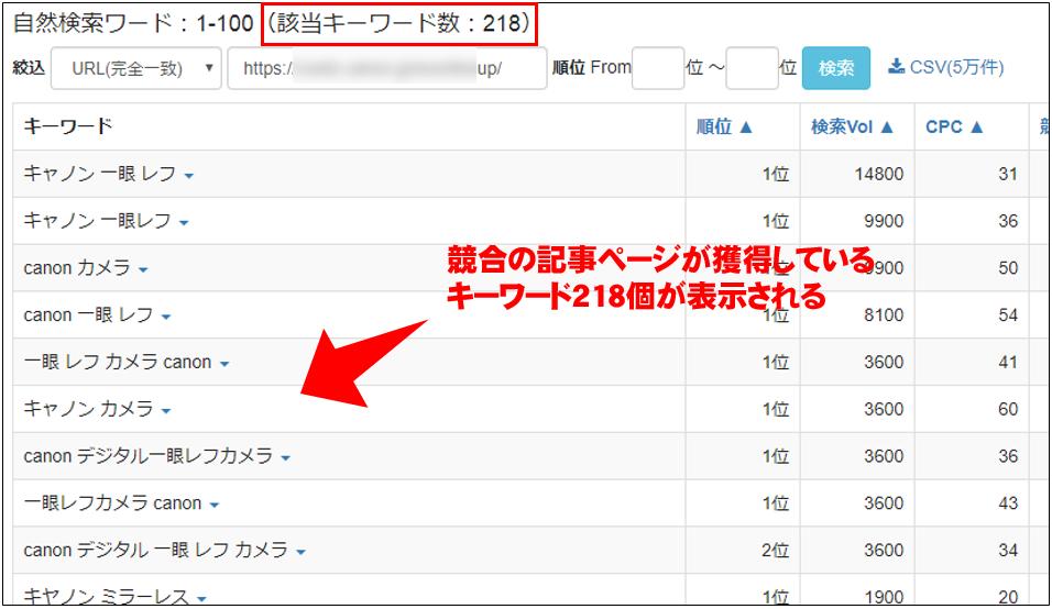 keywordmap キーワード選定 占有Webサイト抽出4