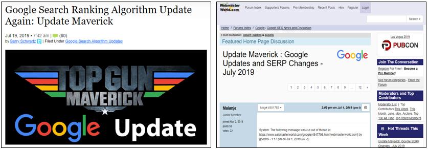 Googleアルゴリズム変動、Maverick Update